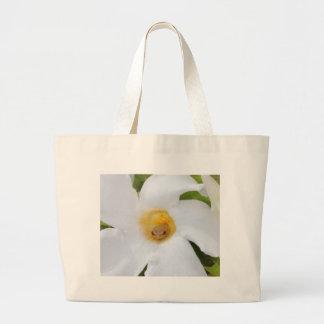 Tree Frog Resting in a Flower Jumbo Tote Bag