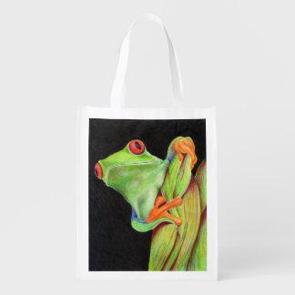 Tree Frog Reusable Grocery Bag