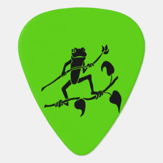 Tree Frog Silhouette Guitar Pick