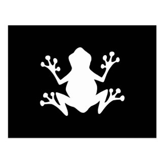 Tree Frog Silhouette Postcard