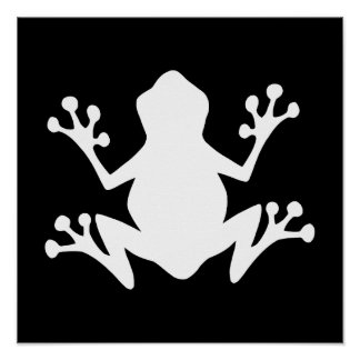 Tree Frog Silhouette Poster