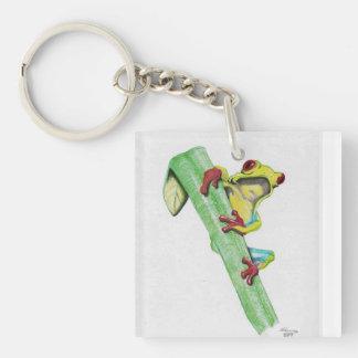 Tree frog Single-Sided square acrylic keychain