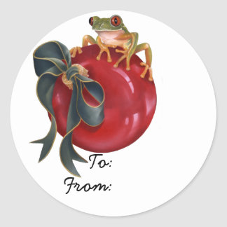 "Tree Frog ""To/From"" Sticker"