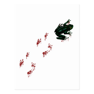 Tree Frog with Bloody Tracks Postcard