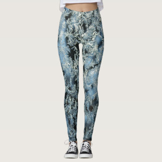 Tree Frost Nature Abstract Photographic Art Leggings