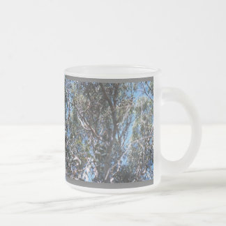 Tree Frosted Glass Mug
