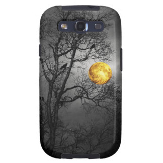Tree full of ravens with a full moon. samsung galaxy SIII covers