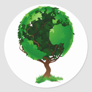 Tree Globe Stickers