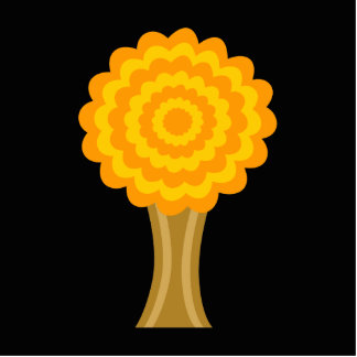 Tree Golden Autumn colors Funky Design Cut Outs