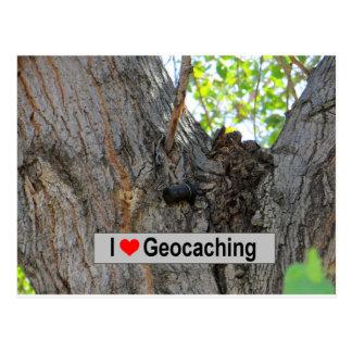 Tree Hanger Cache: Geocaching Postcard