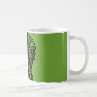 Tree head coffee mug