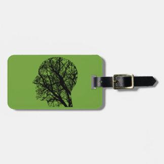 Tree head luggage tag
