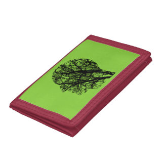 Tree head tri-fold wallets