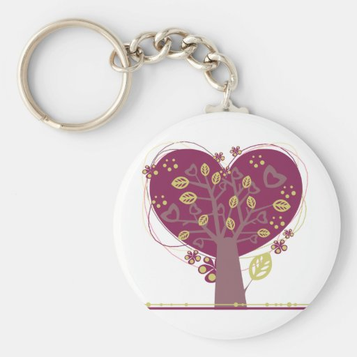 Tree ~ Heart Hearts Leaf Love Tree Key Chains