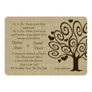 Tree Hearts Wedding Card