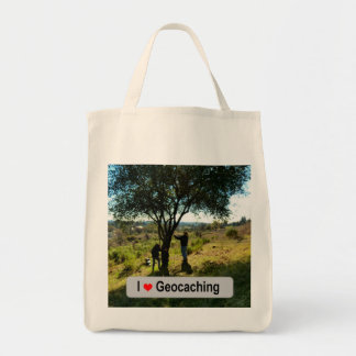 Tree hide: Geocaching Tote Bag