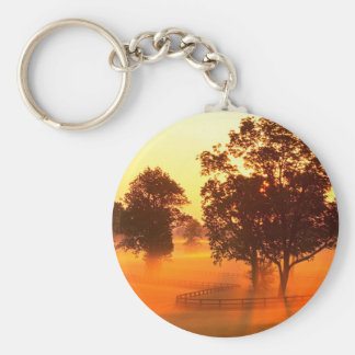 Tree Horse Farm Basic Round Button Keychain