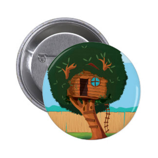 Tree house 2 inch round button