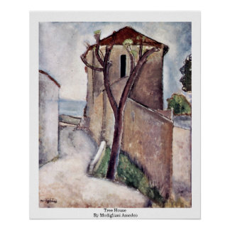 Tree House By Modigliani Amedeo Poster
