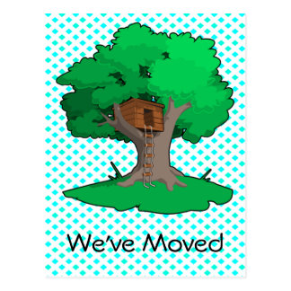 Tree House Change Of Address Postcard