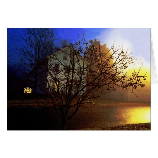 Tree House – Gold and Blue Glory II Card