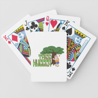 Tree Hugger Bicycle Playing Cards