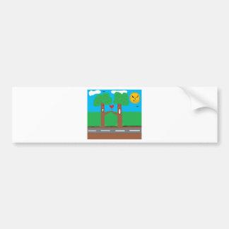 TREE HUGGER BUMPER STICKER