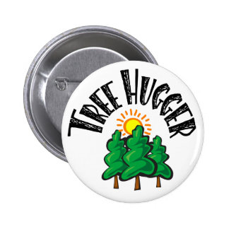 Tree Hugger Pinback Buttons