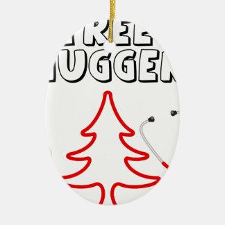 Tree Hugger Ceramic Ornament