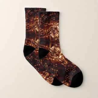 Tree Hugger Embossing Art Socks
