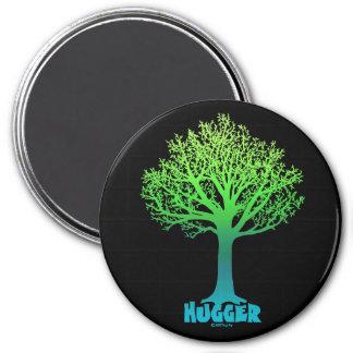 Tree Hugger green rainbow Magnet