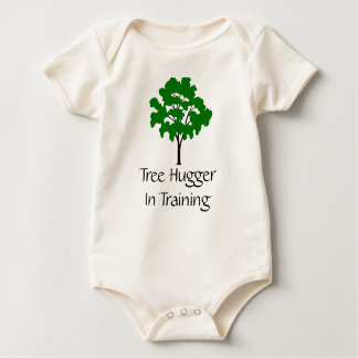 Tree Hugger In Training Organic Baby Shirt