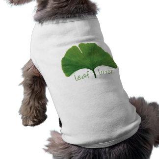 Tree Hugger, Leaf Lover - Ginkgo Doggie T-shirt