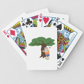Tree Hugger Man Bicycle Playing Cards
