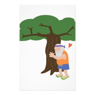 Tree Hugger Man Stationery