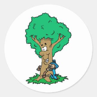 Tree Hugger Round Sticker