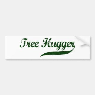 Tree Hugger Script Bumper Sticker