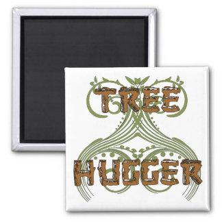 Tree Hugger Square Magnet