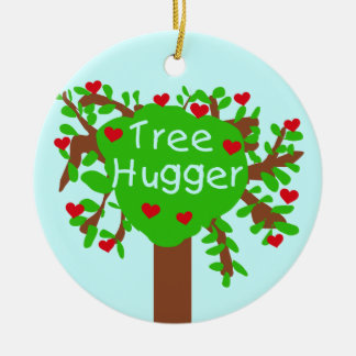 Tree Hugger T-shirts and Gifts Ceramic Ornament