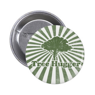 Tree Hugger Think Green 2 Inch Round Button
