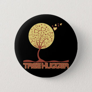 Tree Hugger Tree Hearts 2 Inch Round Button