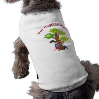 Tree Hugging Vegan Dog Tee