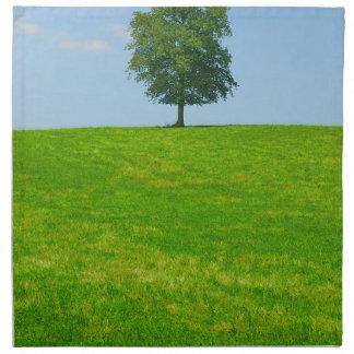 Tree in  a field napkin
