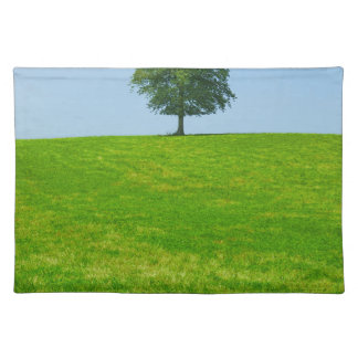 Tree in  a field place mats