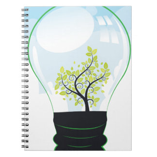 Tree in a Lightbulb Notebook