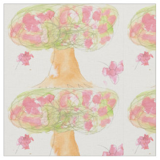 Tree in bloom fabric