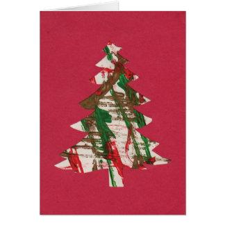 Tree in Fingerpaint Card