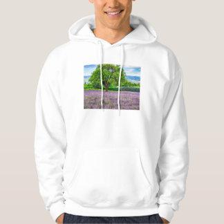 Tree in Lavender Field, France Hoodie