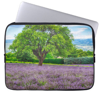 Tree in Lavender Field, France Laptop Computer Sleeve