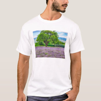 Tree in Lavender Field, France T-Shirt